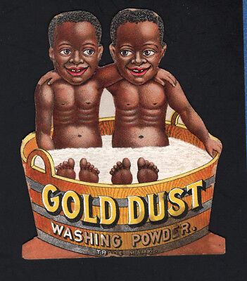 1800s Advertising Trade Card - Gold Dust Twins - Black Americana