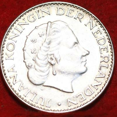1964 Netherlands 1 Gulden Silver Foreign Coin