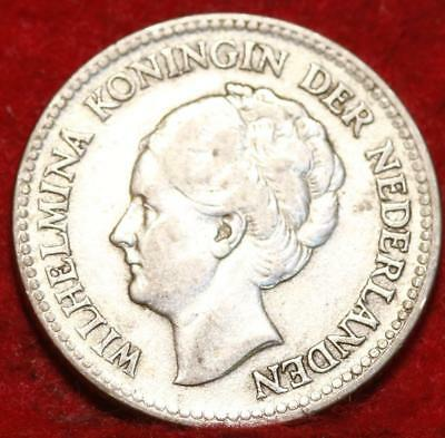 1929 Netherlands 1/2 Gulden Silver Foreign Coin