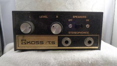 KOSS T-5 Headphone Junction Box Tested  Working