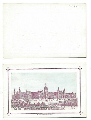 1876 International Expo - Agricultural Building Souvenir Postcard - Burt Co.  #7