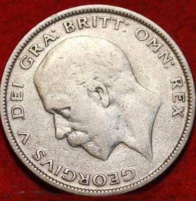 1931 Great Britain Half Crown Silver Foreign Coin