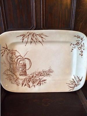 Antique Gwts Large Serving Platter The Chinese Pattern