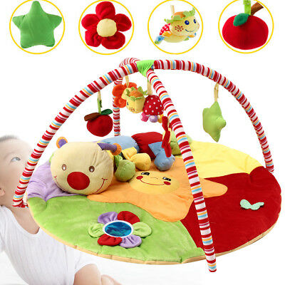 Baby Musical Lay Play Mat Free Tummy Time Caterpillar Soft Animal Toy Playmat