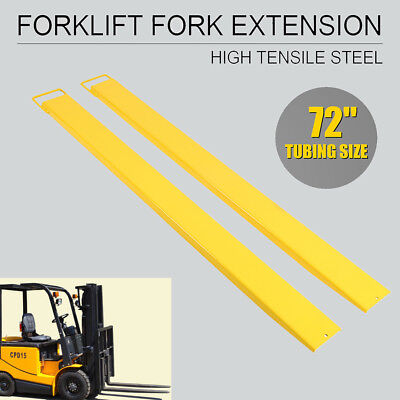 "72"" x 5.5"" Pallet Jack Fork Extensions Clamp For Forklifts Lift Truck Heavy Duty"
