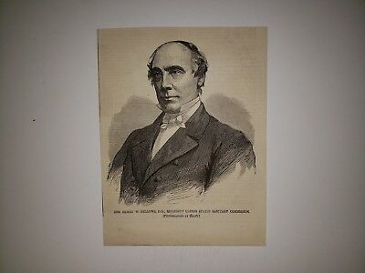 Henry W. Bellows Sanitary Commission Civil War 1864 Harper's Weekly Woodcut
