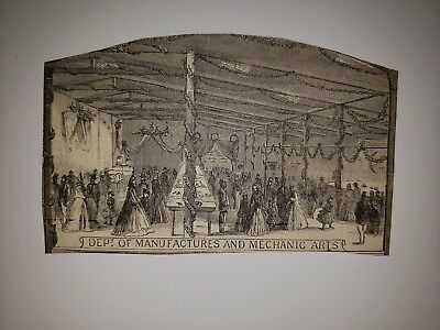Brooklyn  Fair Sanitary Commission Deptartment of Mechanic Arts 1864 Sketch