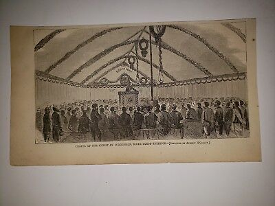 Chapel of the Chirstian Commission Ninth Corps 9th Civil War 1865 HW Sketch