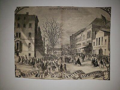 Brooklyn New York Fair Sanitary Commission Museum of Relics 1864 HW Sketch