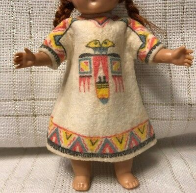 Vintage Doll CLOTHES -DRESS (tags) Vogue Ginny, American Indian #201