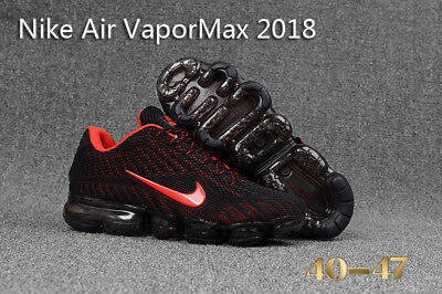 NIKE AIR VaporMax Air Max 2018 Men's Running Trainers Shoes Black, red