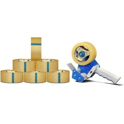 Clear Shipping Packing Tape 2-inch x 110 Yards 12 Rolls 2.3 Mil with Dispenser