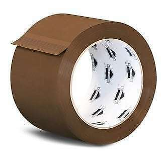 12 Rolls Brown Tan Packaging Packing Tape Shipping 2.3 Mil 2-inch x 110 Yards
