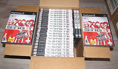 Lot of 24 Disney Sing It High School Musical 3 Playstation 2 Games Wholesale Lot