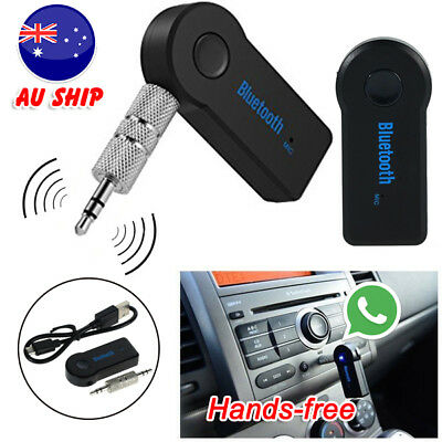 Wireless Bluetooth 3.5mm AUX Audio Stereo Music Car Home Receiver Adapter WWB