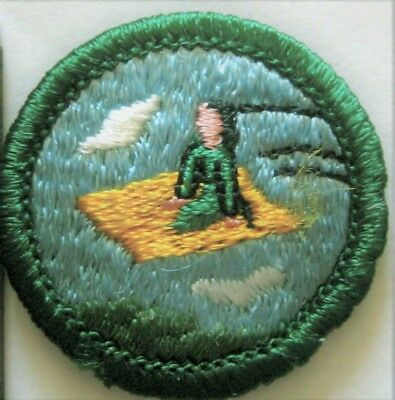 Girl Scout Junior MAGIC CARPET BADGE Flying Aladdin Patch
