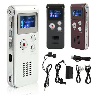 Registratore Audio Vocale Portatile Mp3 Usb Digitale Voice Recorder 8Gb Nore