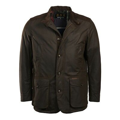 Genuine Men's Barbour Kyle Wax Jacket Size small olive Brand New with Tags Free