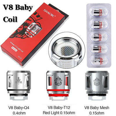 Coil Q4 Mesh T12 light 0.4ohm 0.15ohm Core for SMOK TFV12 Baby Prince TFV8 Baby