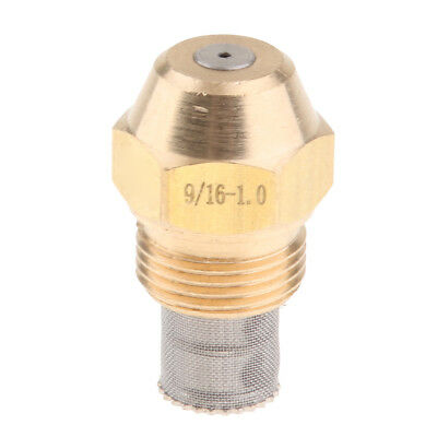 Brass Oil Burner Spray Nozzle with Filter Net for Oil Fired Furnaces, 1.0mm