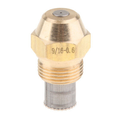 Brass Oil Burner Spray Nozzle with Filter Net for Oil Fired Furnaces, 0.6mm