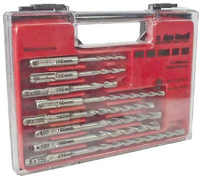 8pc SDS DRILL BIT SET IN STORAGE CASE DIY Drilling POWER TOOL AMTECH F0925 NEW