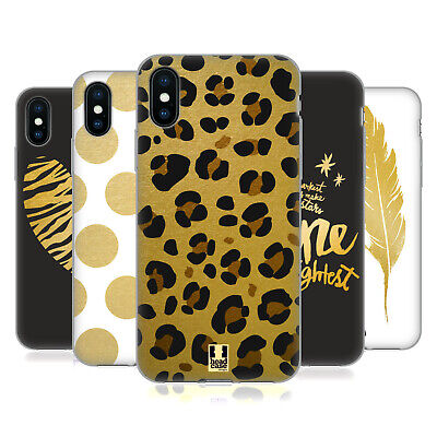 HEAD CASE DESIGNS GRAND AS GOLD SOFT GEL CASE FOR APPLE iPHONE PHONES