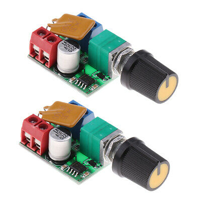 2Pcs Mini DC Motor PWM Controller 3V-35V Speed Control Switch LED Dimmer