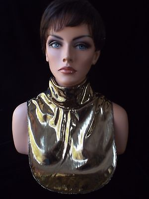 Ladies GOLD LAME Evening Dickey Turtleneck Collar LAST DAY TO SHIP 12/18