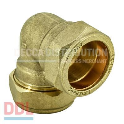 10mm, 15mm, 22mm, 28mm Brass/Chrome plated Compression 90 degree Elbow