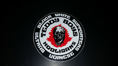 Adesivo Teddy Boys Hooligans Udinese Black And White Supporters