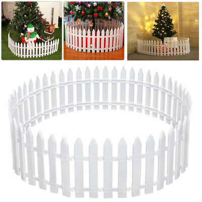 50X Christmas Tree Fence Picket Panels Xmas Garden Fencing Lawn Edge Home Yard