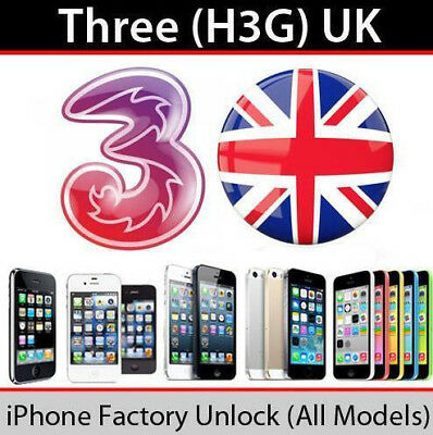 24HOUR ANY Iphone 5,5s,6,6s,6,6s,Plus,7,7plus& 8,X THREE EXPRESS Unlock Service