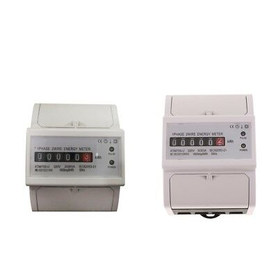2Pcs Power Watt Hour Meter Energy KWH DIN-Rail 20(80)A&5(30)A 1 Phase 2 Wire