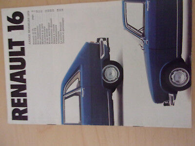 CATALOGUE Brochure  Publicitaire RENAULT 16 1979