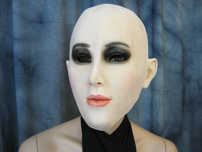 Rubber Mask B-LILLY +LASHES +EYE SHADOW Female Face Mask Crossdresser Sissy