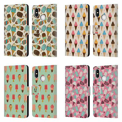 Head Case Designs Ice Cream Patterns Leather Book Wallet Case For Xiaomi Phones