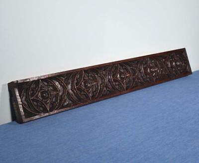 *French Antique Gothic Revival Trim Panel in Oak Wood Salvage