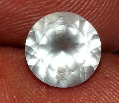 1.72 ct Natural Earth Mined Goshenite Aquamarine Bery 8 x 8 mm Gem #bgo809