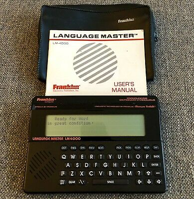 FRANKLIN Language Master LM4000 Talking Pronouncing Dictionary Thesaurus & More