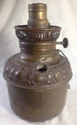 Antique Victorian GWTW Banquet Oil Lamp Brass Fuel Font Only The New Rochester