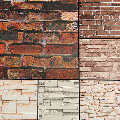 60CM60M 60D WALLPAPER Brick Pattern Selfadhesive Waterproof Wall Impressive Brick Pattern Paper