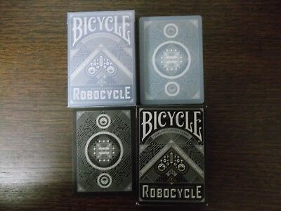 "2 Different x SUPERB PACKS ""Bicycle - Robocycle"" Packs of Playing Cards"