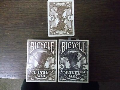 "2 Different x SEALED PACKS ""Bicycle - Civil War"" Packs of Playing Cards"