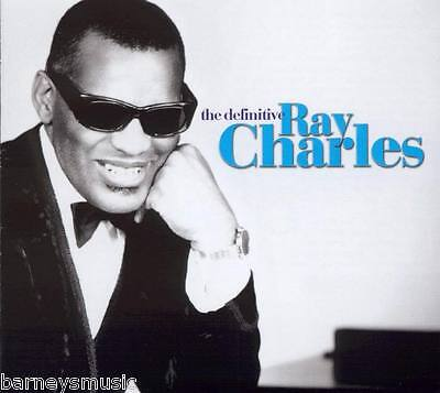 RAY CHARLES ( NEW SEALED 2 x CD ) THE DEFINITIVE GREATEST HITS / VERY BEST OF