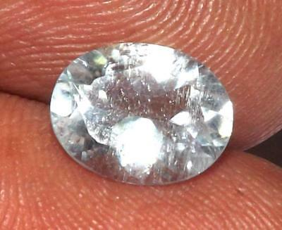 1.48 ct Natural Earth Mined Goshenite Aquamarine Bery 9 x 7 mm Gem #bgo817