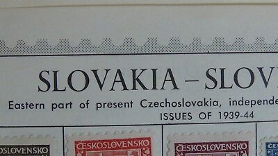 Slovakia Slovensko classics Stamp collection on pages w/ 262 or so stamps