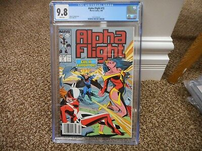 Alpha Flight 72 cgc 9.8 Marvel 1989 UPC NEWSSTAND variant cover WHITE pgs MINT