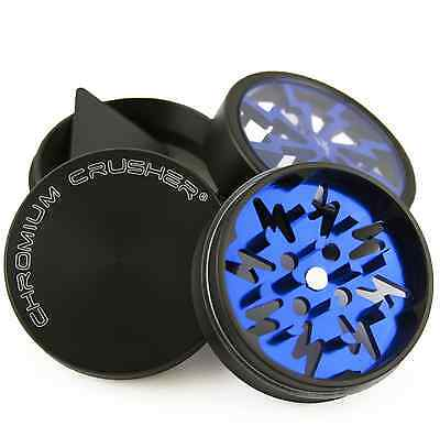 Chromium Crusher 2.0 Inch 4 Piece Tobacco Spice Herb Grinder Bolt- Blue