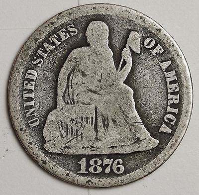 1876-s Liberty Seated Dime.  Good.  103770